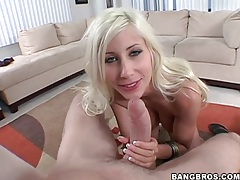 Puma swede strips and gives a hot blowjob tubes