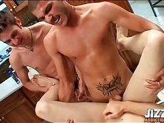 Twinks cum on a table in ass fuck video tubes