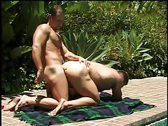 Muscular guy bend over and butt fucked outdoors tubes
