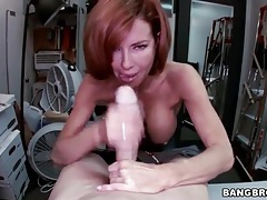 Milf redhead veronica avluv sucks big cock tubes