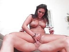 Nurse has him suck on those big sexy tits tubes