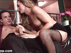 Long lustrous hair on lovely cocksucking milf tubes
