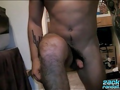 Hairy ass guy zack randall bends over tubes