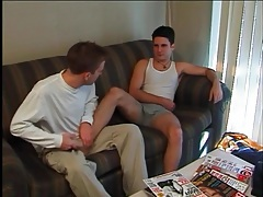 Sexy foot massage leads to hot gay kissing tubes