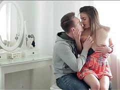Teen girlfriend in a short dress sucks cock tubes