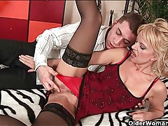 Classy milf wants a younger man to fuck her tubes