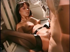 Mariah milano fucked in sexy black stockings tubes