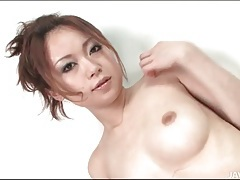 Japanese girl pours thick cream on her body tubes