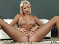 Sweet young blonde with big titties solo tubes
