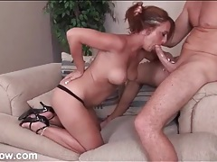 Beautiful milf sloppily sucks his big cock tubes