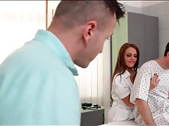 Nurse slut has hot sex in a threesome tubes