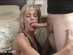 Milf swallows dick and gets laid tubes