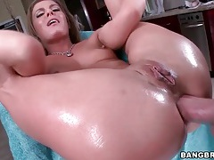 Hot anal sex with a flexible blonde girl tubes