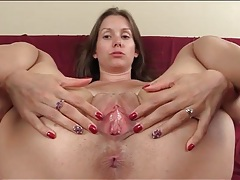 Lelu love gaping pussy and ass in close up tubes