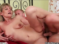 Beautiful old lady fucked by lusty young man tubes