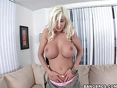 Blonde puma swede in a skimpy outfit tubes