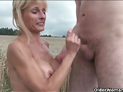Mature blonde fucked hardcore in the grass tubes