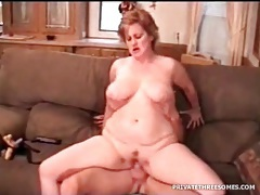 Fat matures serviced by rock hard young cock tubes