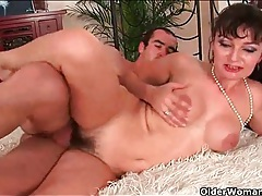 Hairy cunt mom smiles during hardcore fuck tubes