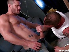 Hot hunks in rimjob and bj video tubes
