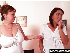Mature lesbian scene ends with strapon fuck tubes
