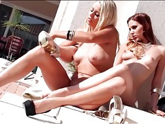 Erotic lesbian foot fetish play with beauties tubes