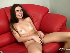 Hairy pussy teen brunette with small tits tubes