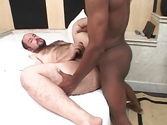 Chubby bear fucked in the ass by black cock tubes