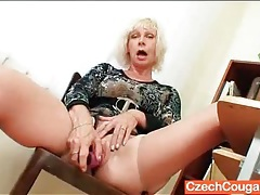 Mature teacher opens her legs and masturbates tubes