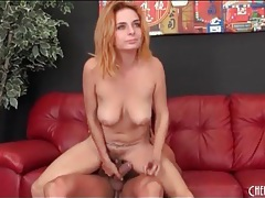 Hot sex all over the leather couch with a slut tubes