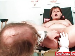Dirty doctor toys her pussy and asshole tubes