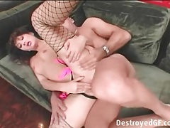 Asian pornstar katsuni fucked in fishnets tubes