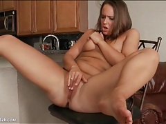 Chubby young cutie masturbates and moans tubes