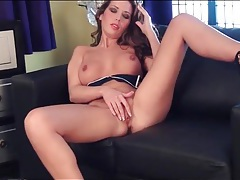 Babe vicky burns shows off her pink pussy tubes