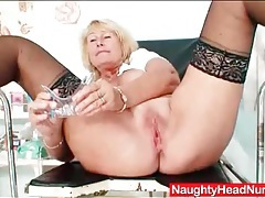 Dildo and speculum up inside the old nurse tubes