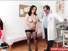 Bbw mature in for her yearly gyno exam tubes