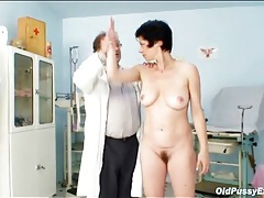 Hairy mature pussy examined by a doctor tubes