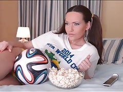 Cute soccer fan subil arch solo tease video tubes