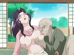 Anime cutie gives old man a hot blowjob tubes
