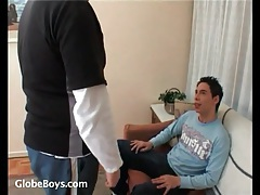 Latin twink sucks dick of his gay daddy tubes