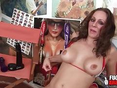 Bikini is hot on a bodacious big tits chick tubes