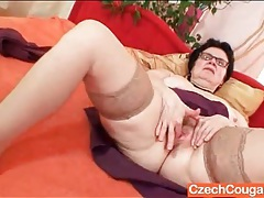Frisky granny has solo sex with a vibrator tubes