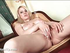 Puffy pussy lips look sexy all wet and slippery tubes