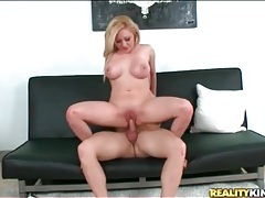 Nice tits and ass on a blonde slut he bangs tubes