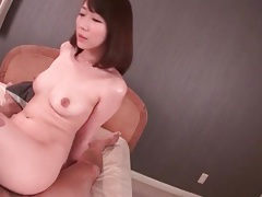 Pink japanese cunt filled with a cumshot tubes