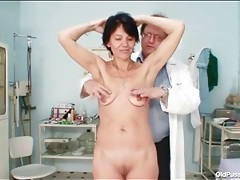 Deep look inside her pussy during gyno exam tubes