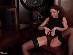 Little black dress and lingerie on a classy milf tubes