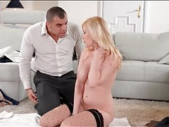 Oil massage for her big tits is wicked sexy tubes