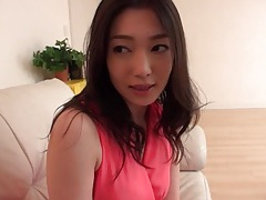 Japanese girl in a pretty pink dress is irresistible tubes