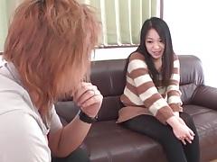 Japanese sweater girl models her asshole tubes